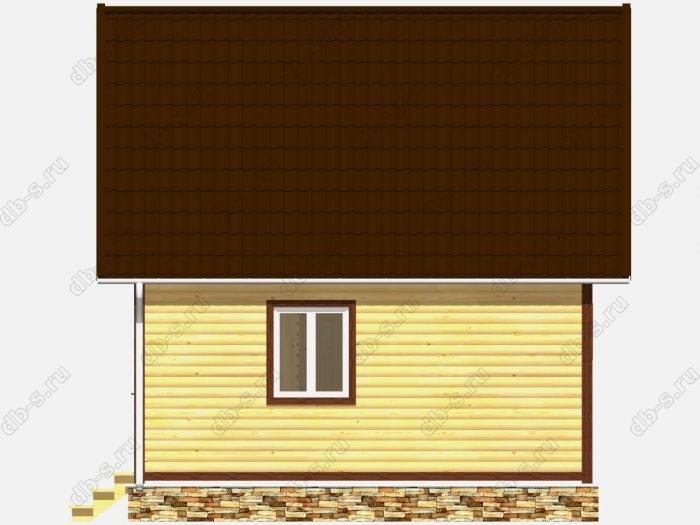 Дом из бруса 6х6 двухскатная крыша