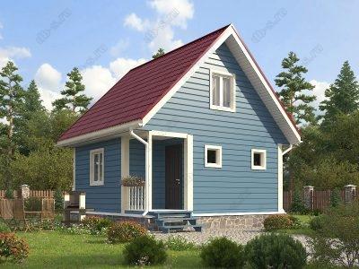 Каркасный дом 6х6 проект К66