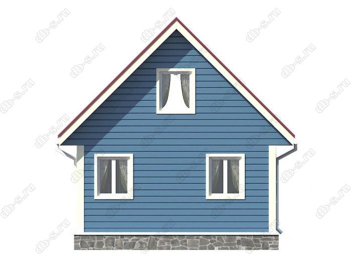 Проект каркасного дома площадью 57.75кв.м.