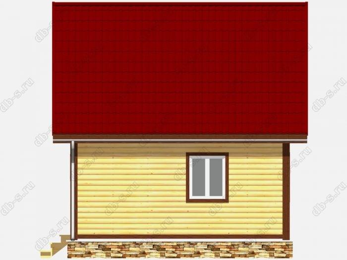Дом из бруса 6х6 терраса (веранда) двухскатная крыша