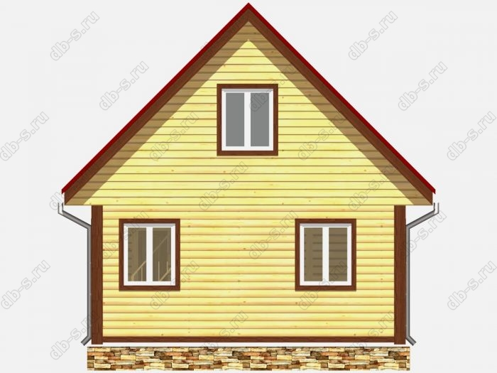 Проект дома из бруса площадью 57.75кв.м.