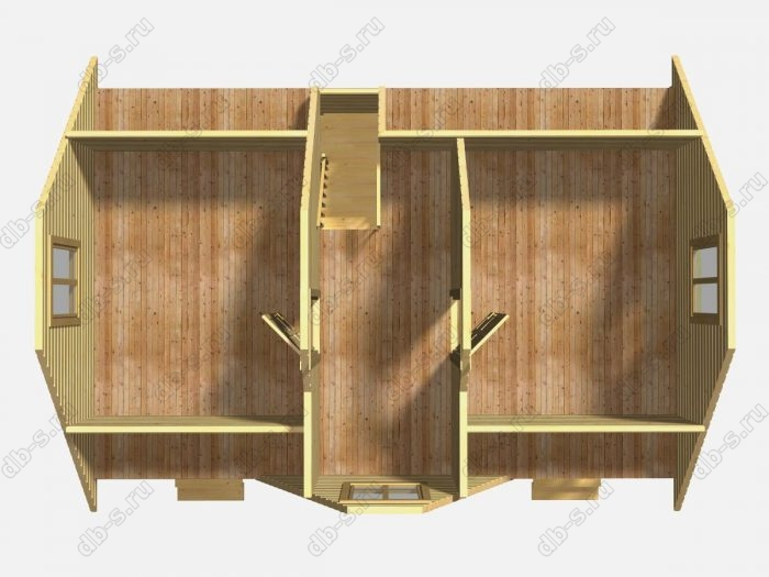 Проект каркасного коттеджа 6х9