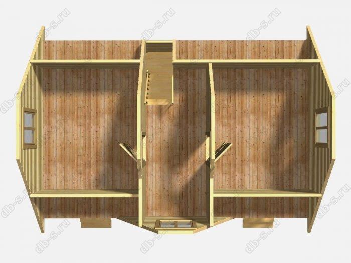 Деревянный сруб 6х9 под усадку