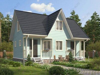Каркасный дом 6х9 проект К67