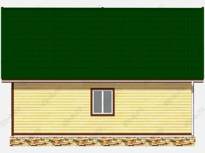 Проект дома из бруса площадью 87кв.м.
