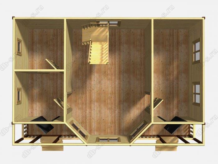 Проект дома для постоянного проживания 6 на 9