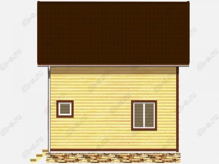 Дом из бруса 6х7 терраса (веранда) балкон двухскатная крыша