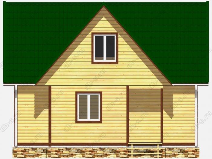 Фото деревянного дома из профилированного бруса под ключ 8 на 7.5