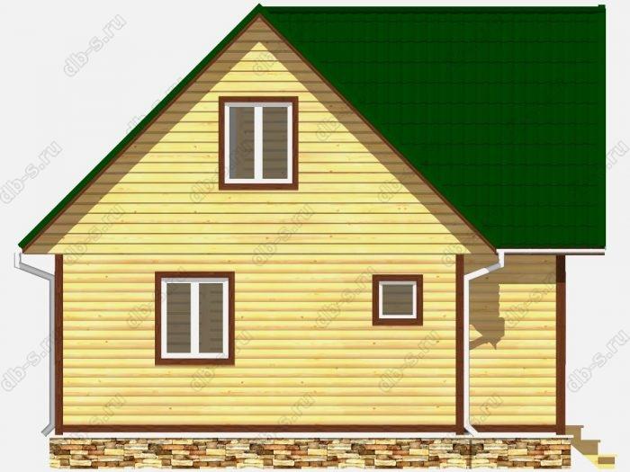 Строительство домов под ключ 8х7.5 из профилированного бруса