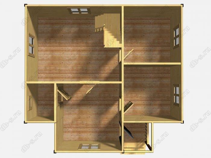 Проект дома для постоянного проживания 8 на 7.5