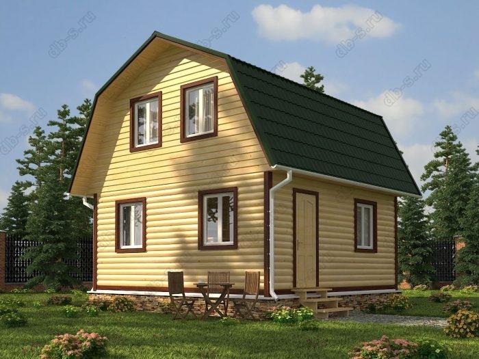 Проект с мансардой 6 на 6 дом из профилированного бруса ломаная крыша вальмовая крыша