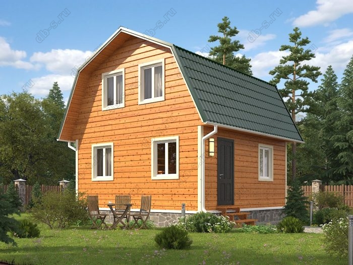 Проект с мансардой 6 на 6 каркасный дом под ключ ломаная крыша вальмовая крыша