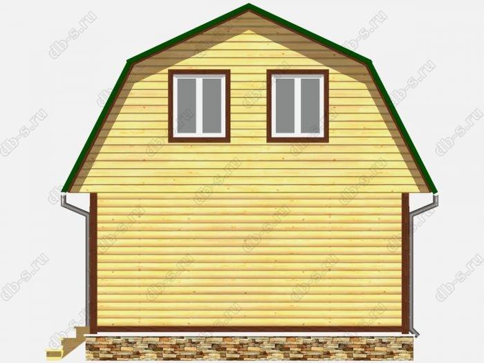 Проект дома из бруса площадью 63кв.м.