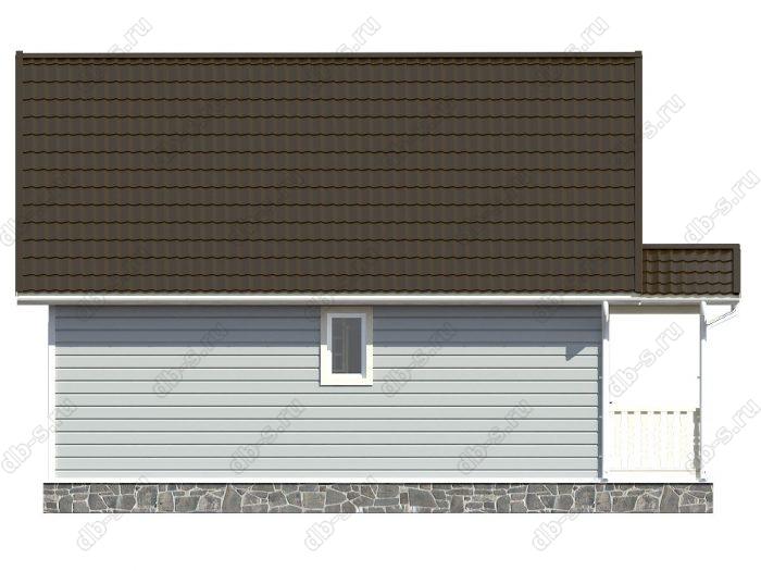 Каркасный дом 7х10 терраса (веранда) двухскатная крыша
