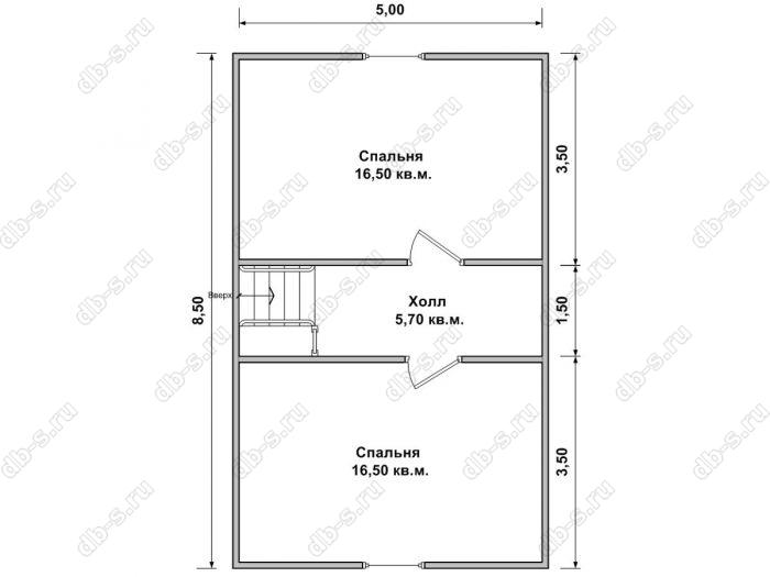 Дом 7 на 10 план мансардного этажа