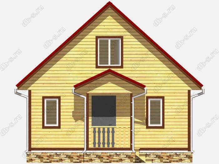 Фото деревянного дома из профилированного бруса под ключ 7 на 10