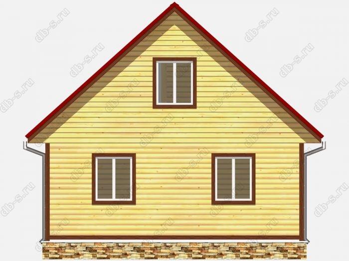 Проект дома из бруса площадью 102кв.м.