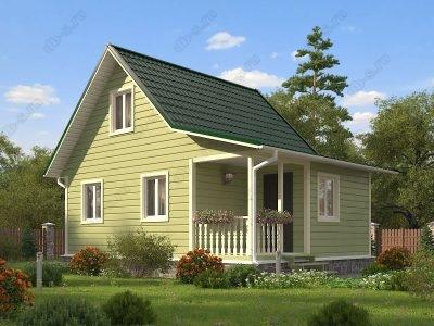 Каркасный дом 6х8 проект К71