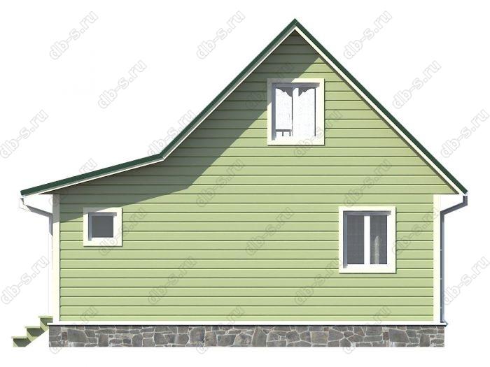 Проект каркасного дома площадью 67кв.м.