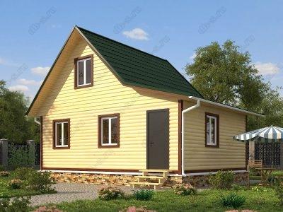 Дом из бруса 6х8 проект Д72