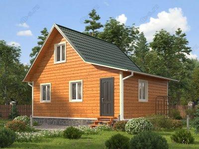 Каркасный дом 6х8 проект К72