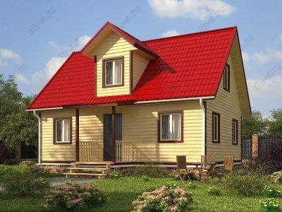 Дом из бруса 7х9 проект Д73