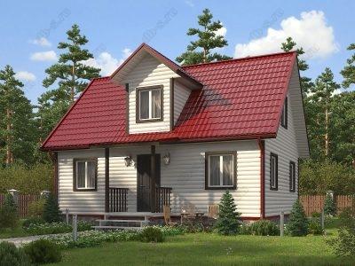 Каркасный дом 7х9 проект К73