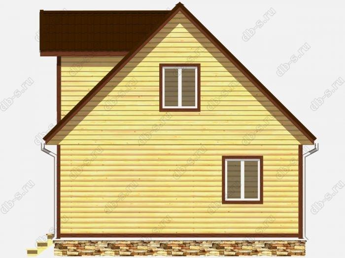 Дом из бруса 6х8 двухскатная крыша