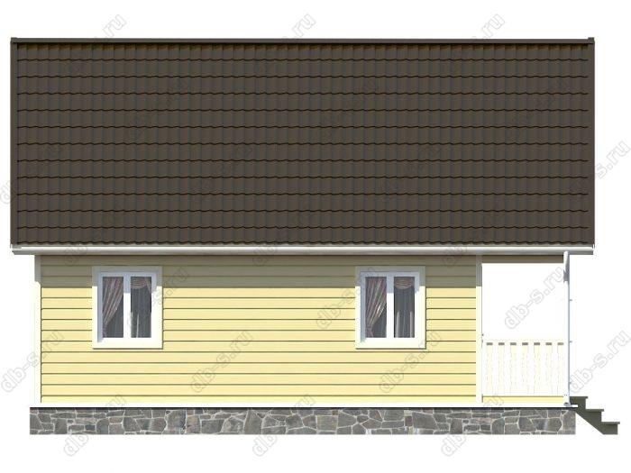 Каркасный дом 6х9 терраса (веранда) балкон двухскатная крыша