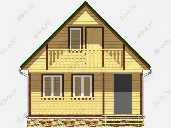 Фото деревянного дома из профилированного бруса под ключ 6 на 9