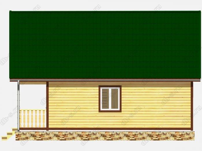 Дом из бруса 6х9 терраса (веранда) балкон двухскатная крыша