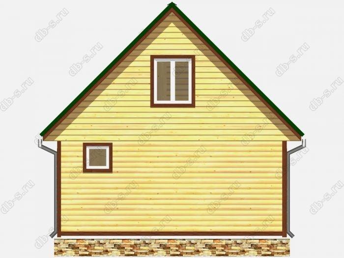 Проект дома из бруса площадью 75кв.м.