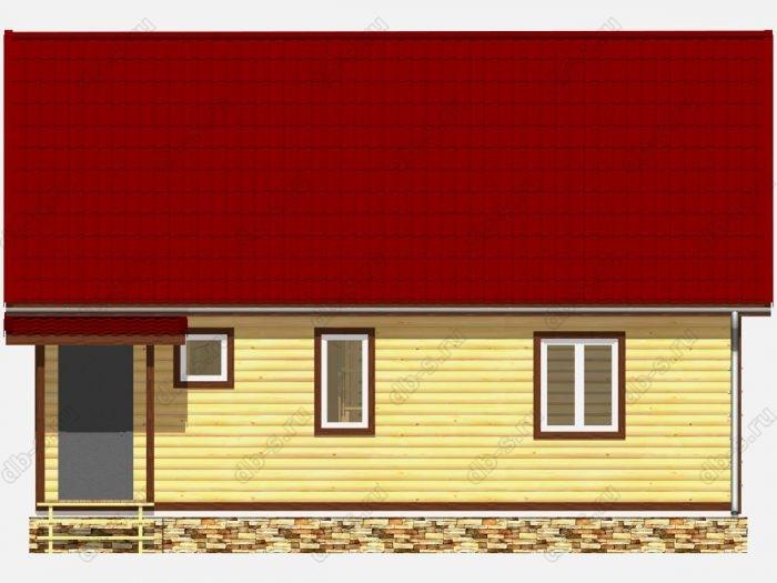 Дом из бруса 6х9 терраса (веранда) двухскатная крыша