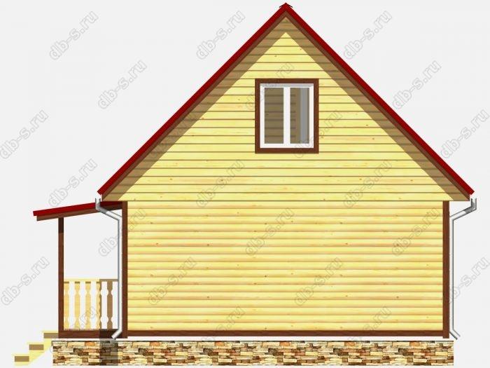 Проект дома из бруса площадью 86кв.м.