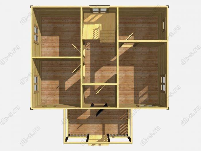 Проект дома для постоянного проживания 6 на 8