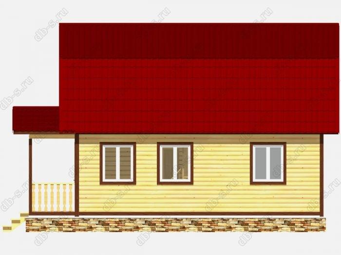 Дом из бруса 6х8 терраса (веранда) ломаная крыша вальмовая крыша