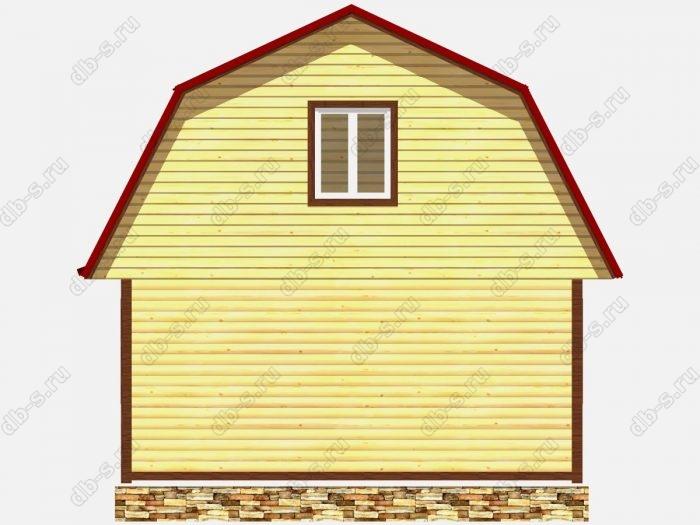 Проект дома из бруса площадью 84кв.м.