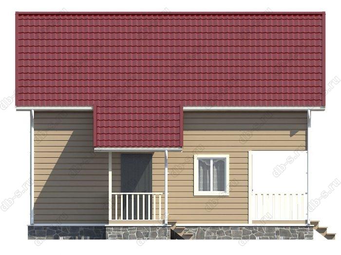 Каркасный дом 9.5х10 терраса (веранда) балкон двухскатная крыша