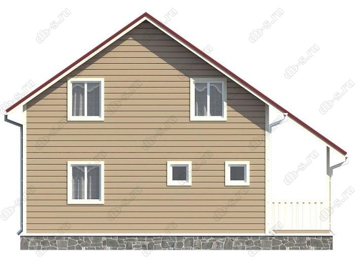 Проект каркасного дома площадью 120кв.м.