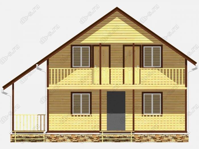 Фото деревянного дома из профилированного бруса под ключ 9.5 на 10