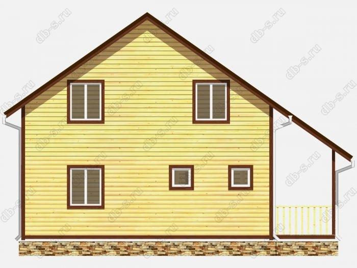 Проект дома из бруса площадью 120кв.м.