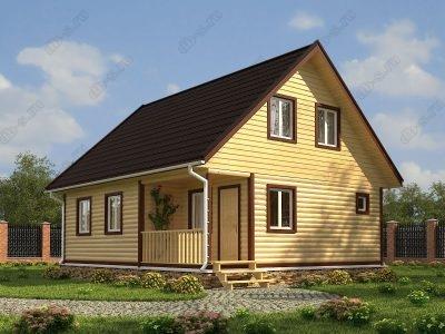 Дом из бруса 9х8 проект Д8