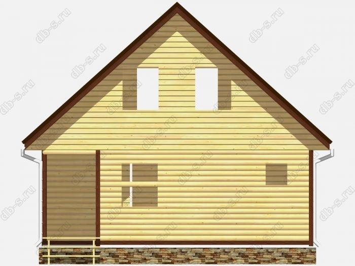 Фото деревянного сруба из бруса 9 на 7.5