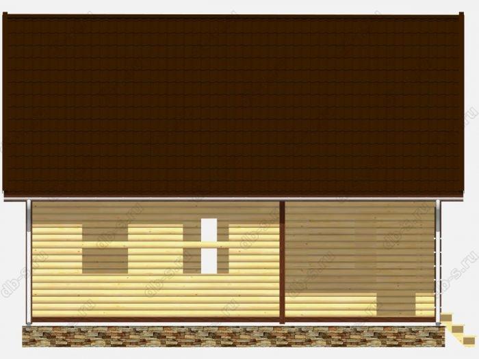 Сруб дома 9х7.5 терраса (веранда) двухскатная крыша