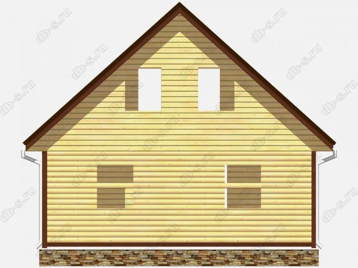 Проект сруба дома площадью 116.25кв.м.