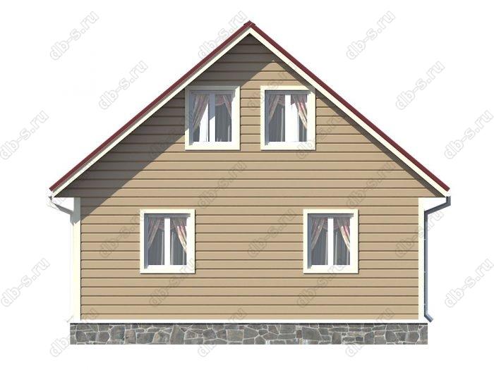 Проект каркасного дома площадью 116.25кв.м.