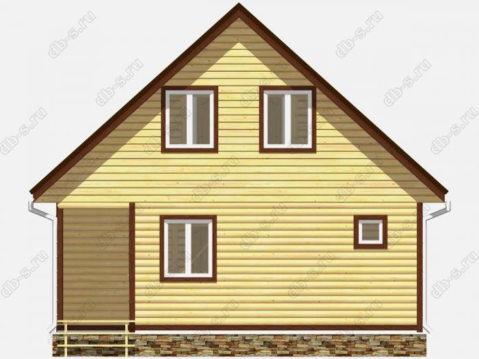 Фото деревянного дома из профилированного бруса под ключ 9 на 7.5