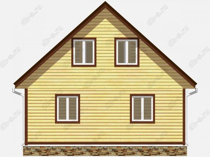 Проект дома из бруса площадью 116.25кв.м.