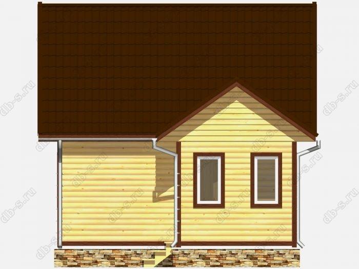 Дом из бруса 6х7.5 двухскатная крыша