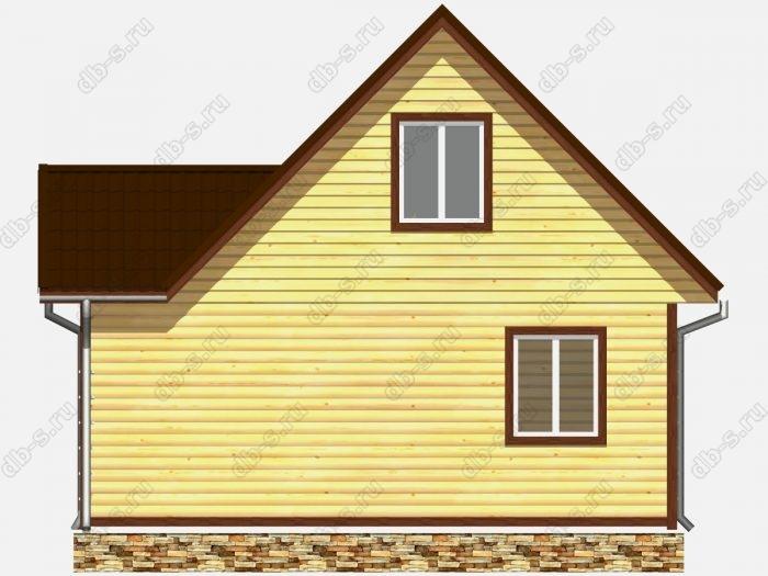 Проект дома из бруса площадью 65кв.м.